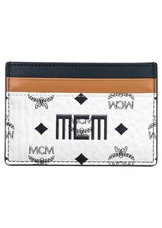 MCM Mini Visetos Canvas Card Case