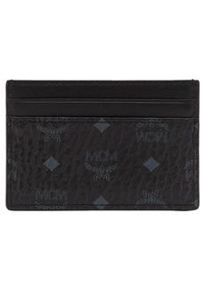 MCM Mini Visetos Coated Canvas Card Case