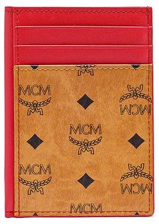 MCM Mini Visetos Original & Leather Card Case