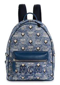MCM Small Vintage Jacquard Backpack