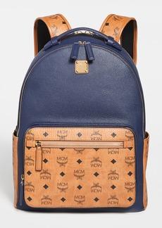MCM Stark Visetos Leather Mix Backpack 40