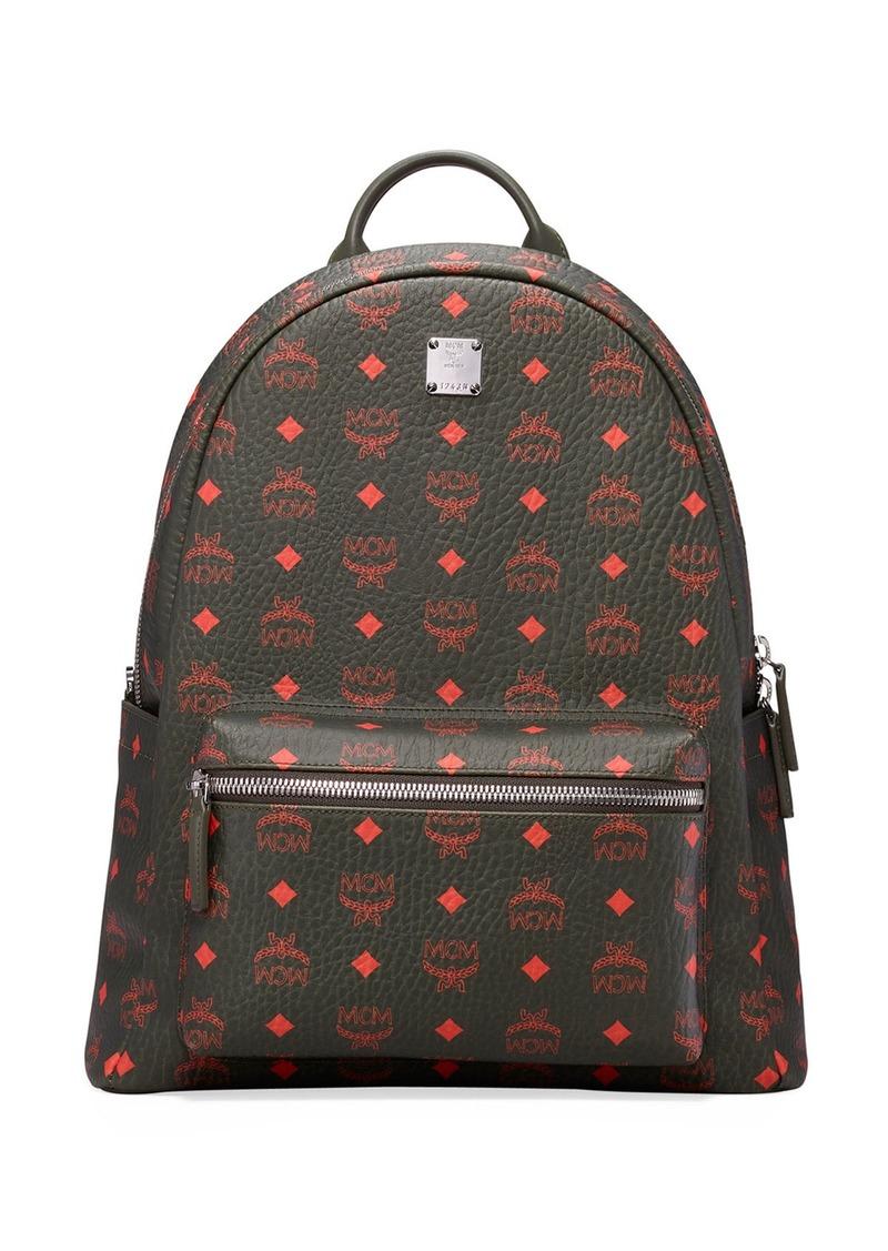 MCM Men's Stark Monogram Backpack