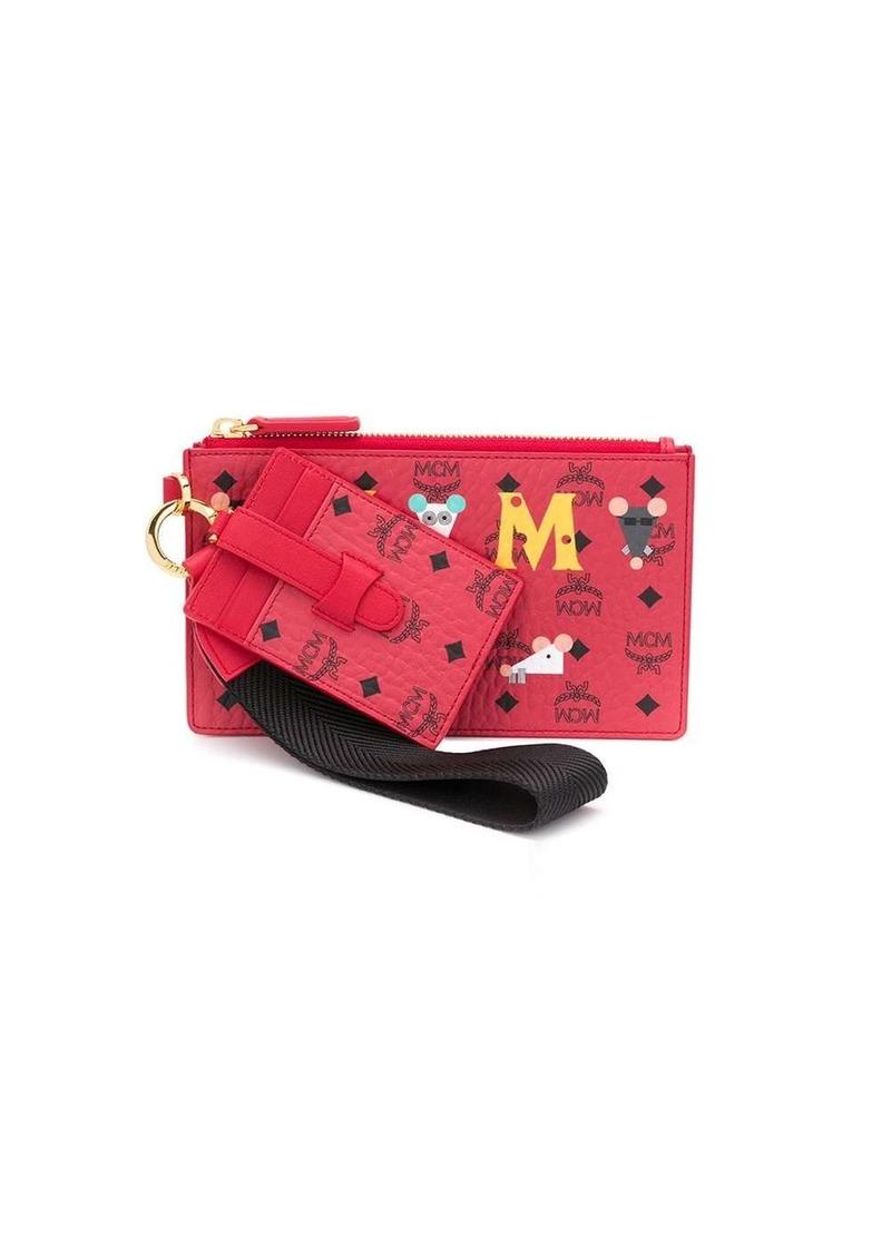MCM monogram pouch
