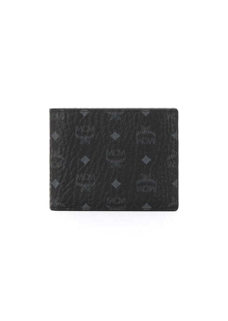 MCM monogram print bifold wallet