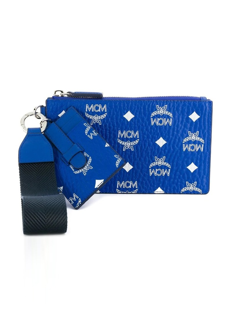 MCM monogram print money pouch