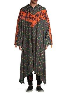 MCM Removable-Sleeve Printed Raincoat