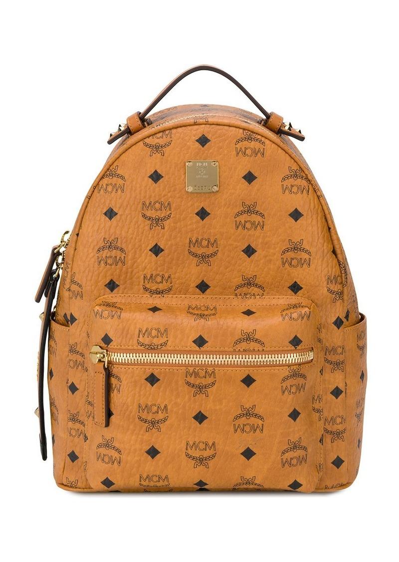 MCM Stark logo-print backpack