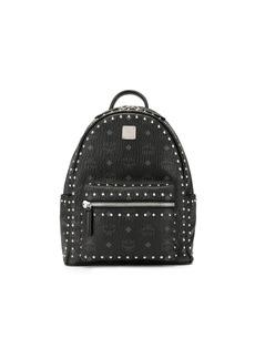 MCM studded logo print backpack