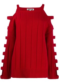 McQ Alexander McQueen cut out knitted jumper