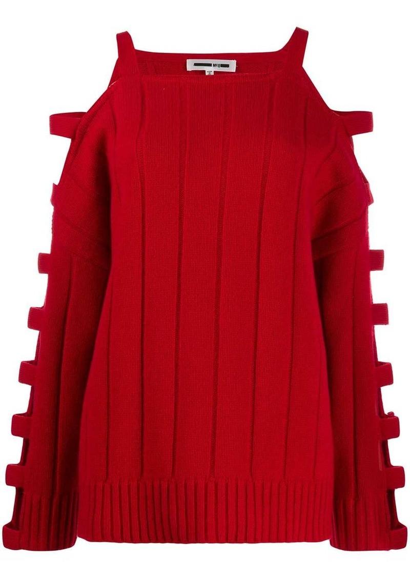 McQ Alexander McQueen cut out knitted jumper