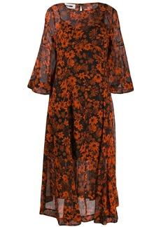 McQ Alexander McQueen floral print midi dress