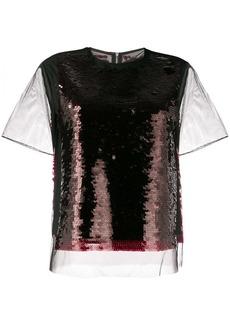 McQ Alexander McQueen sequin mesh T-shirt
