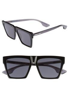 McQ Alexander McQueen Alexander McQueen 54mm Flat Top Sunglasses