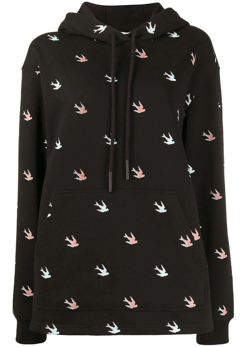 McQ Alexander McQueen all-over swallow hoodie