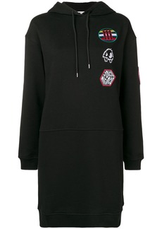 McQ Alexander McQueen appliqué hoodie dress