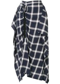 McQ Alexander McQueen asymmetric check skirt