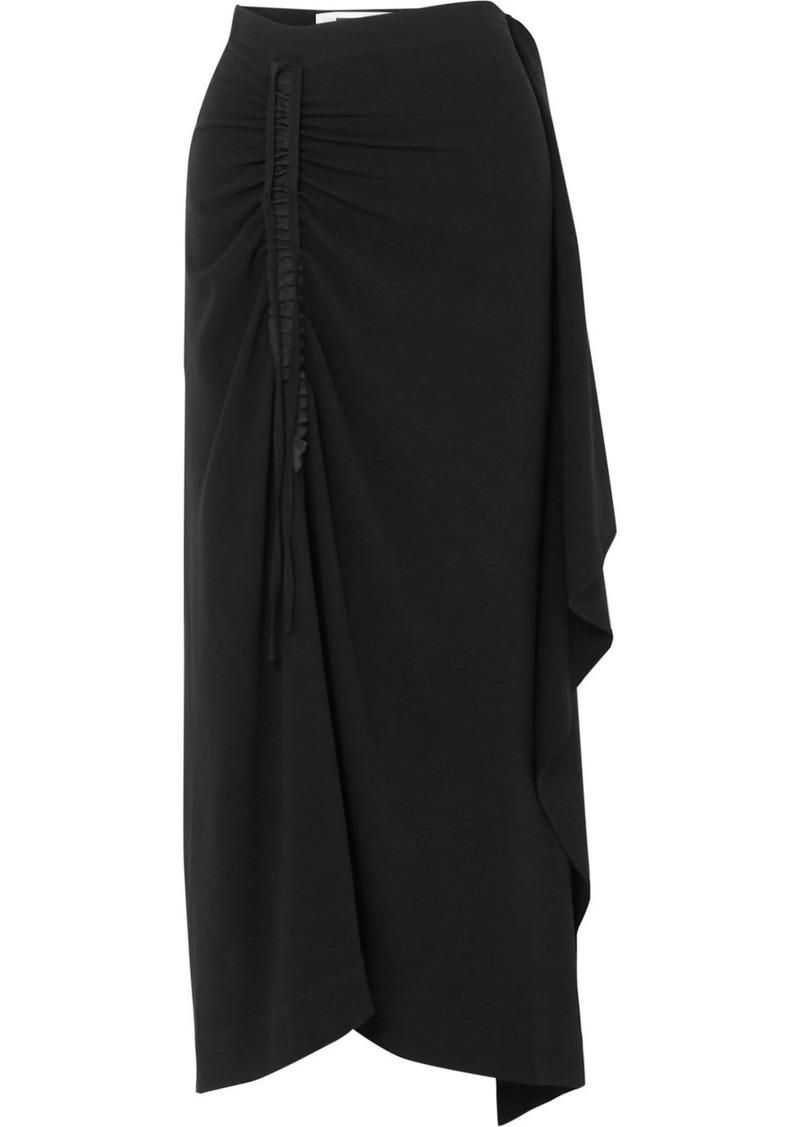 McQ Alexander McQueen Asymmetric Draped Crepe Skirt
