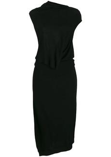 McQ Alexander McQueen asymmetric jersey dress