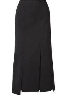McQ Alexander McQueen Asymmetric Twill Midi Skirt