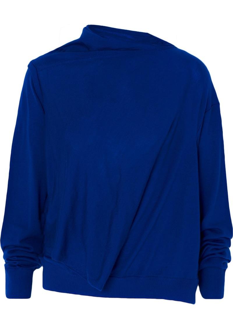 McQ Alexander McQueen Asymmetric Wool Sweater