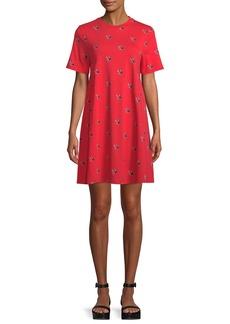McQ Alexander McQueen Babydoll Bird-Print Tee Dress