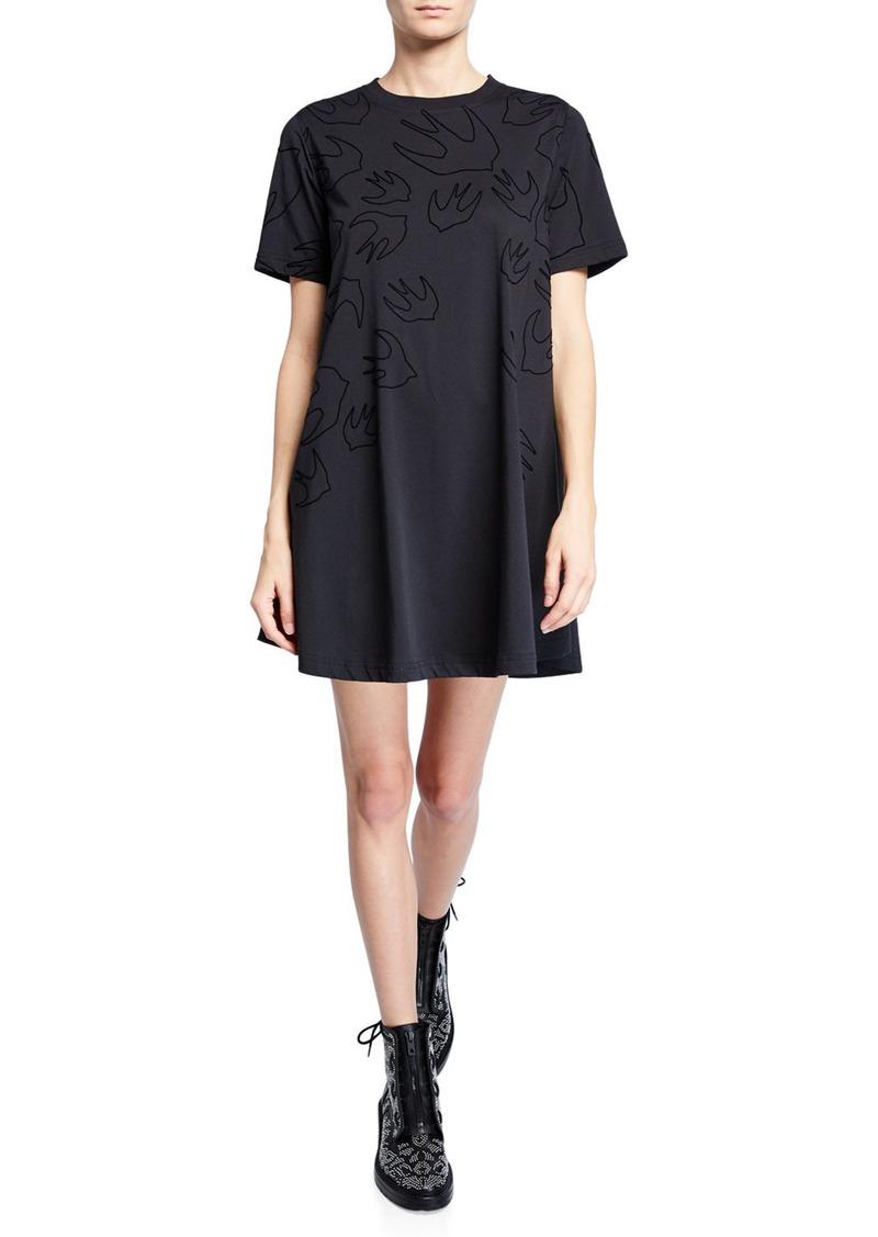 McQ Alexander McQueen Babydoll Short-Sleeve T-Shirt Dress