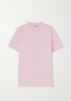 McQ Alexander McQueen Band Tee Embroidered Cotton-jersey T-shirt