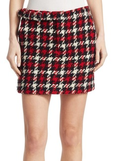McQ Alexander McQueen Belted Wool Mini Skirt