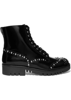 McQ Alexander McQueen Bess Studded Leather Ankle Boots