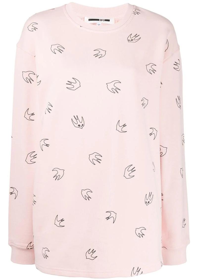 McQ Alexander McQueen bird print sweater