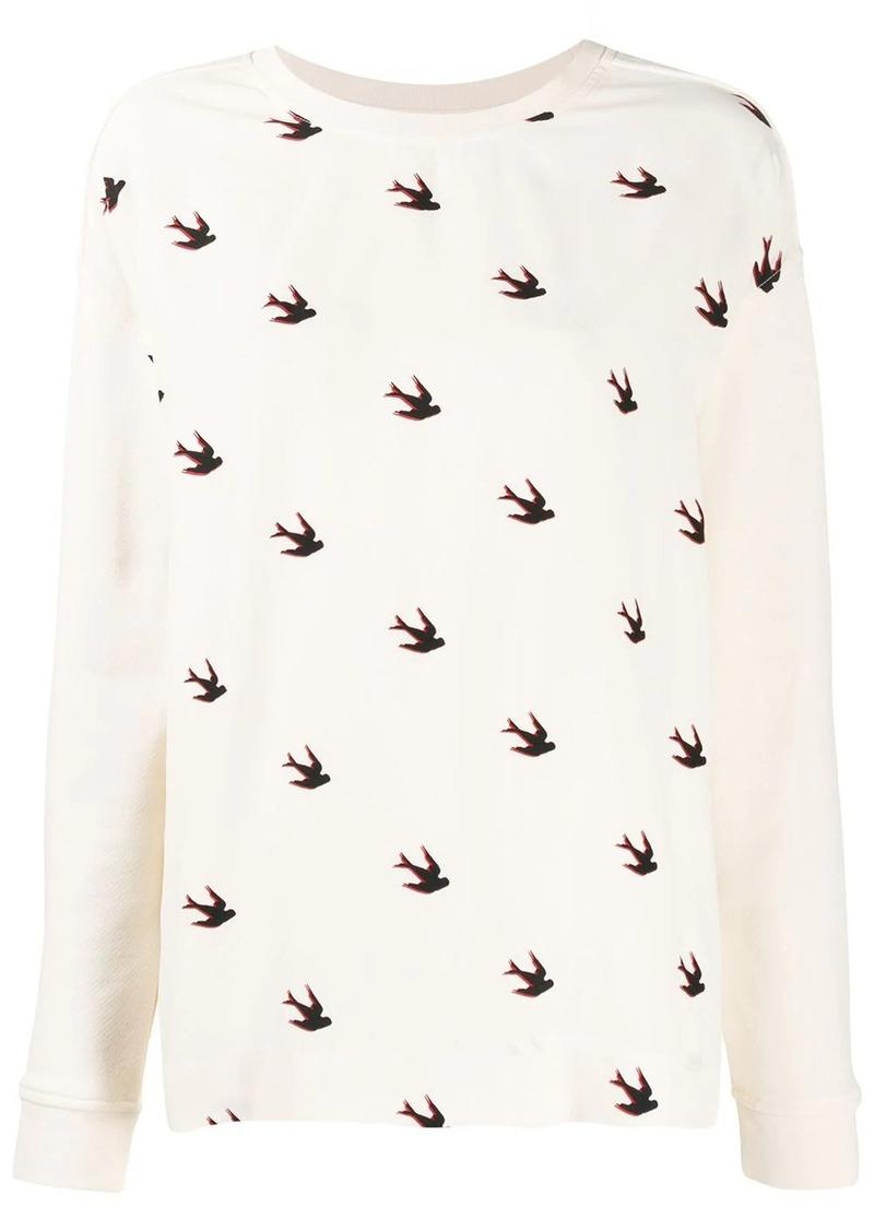 McQ Alexander McQueen birds print sweatshirt