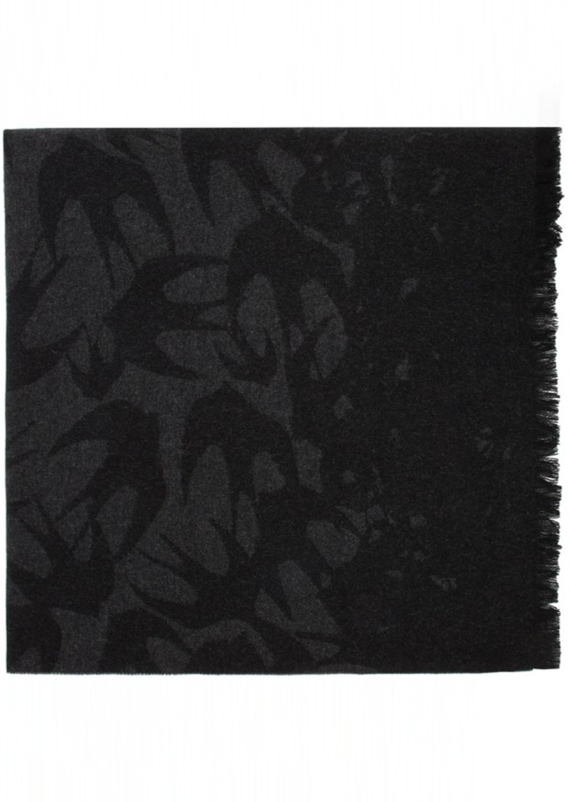 McQ Alexander McQueen Black & Grey Swallow Degrade Scarf