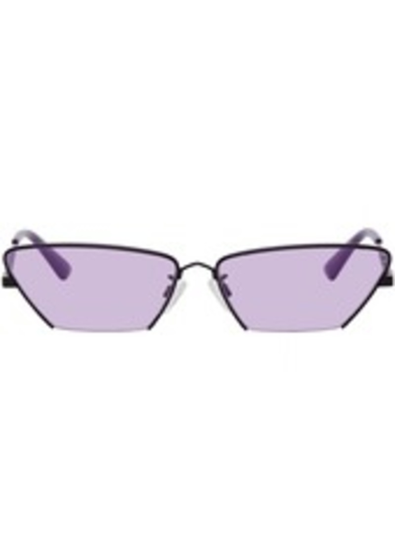 McQ Alexander McQueen Black & Purple Cat-Eye Sunglasses
