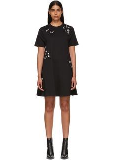 McQ Alexander McQueen Black Beaded Babydoll Dress