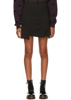 McQ Alexander McQueen Black Cut Up Zip Miniskirt
