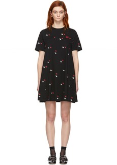 McQ Alexander McQueen Black Fresh Cut Swallow Babydoll Dress