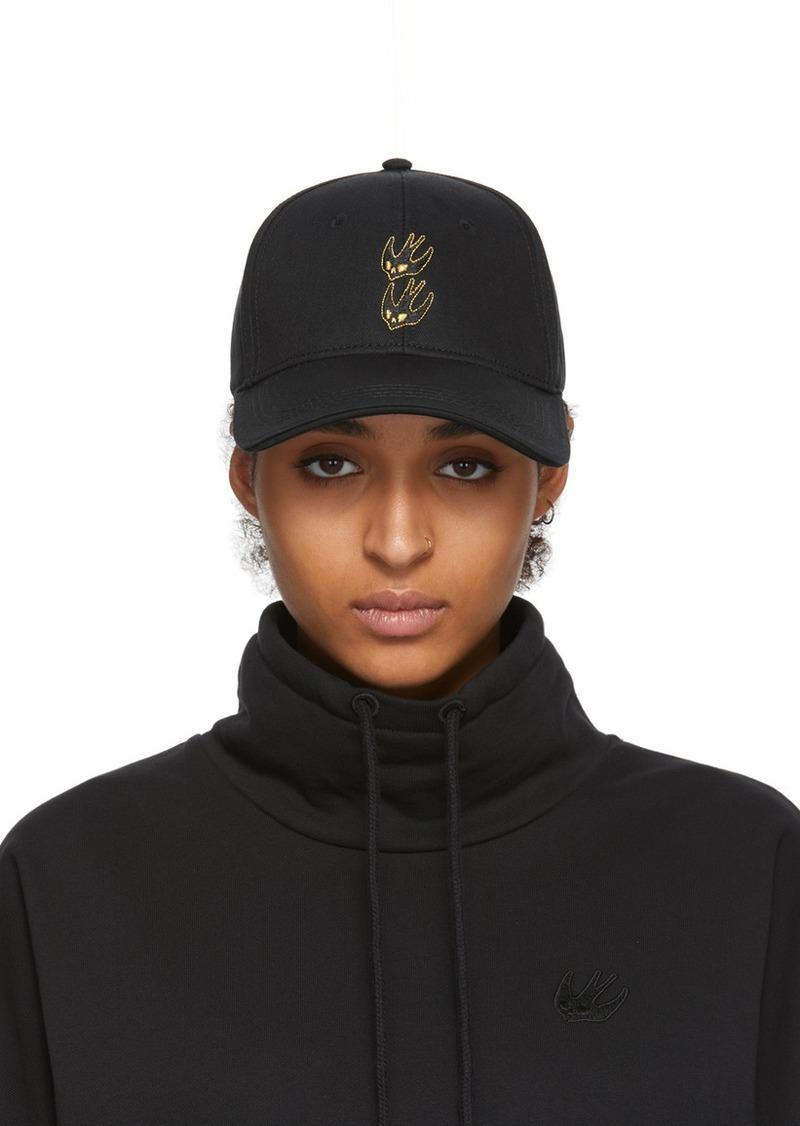 McQ Alexander McQueen Black Gold Swallow Cap