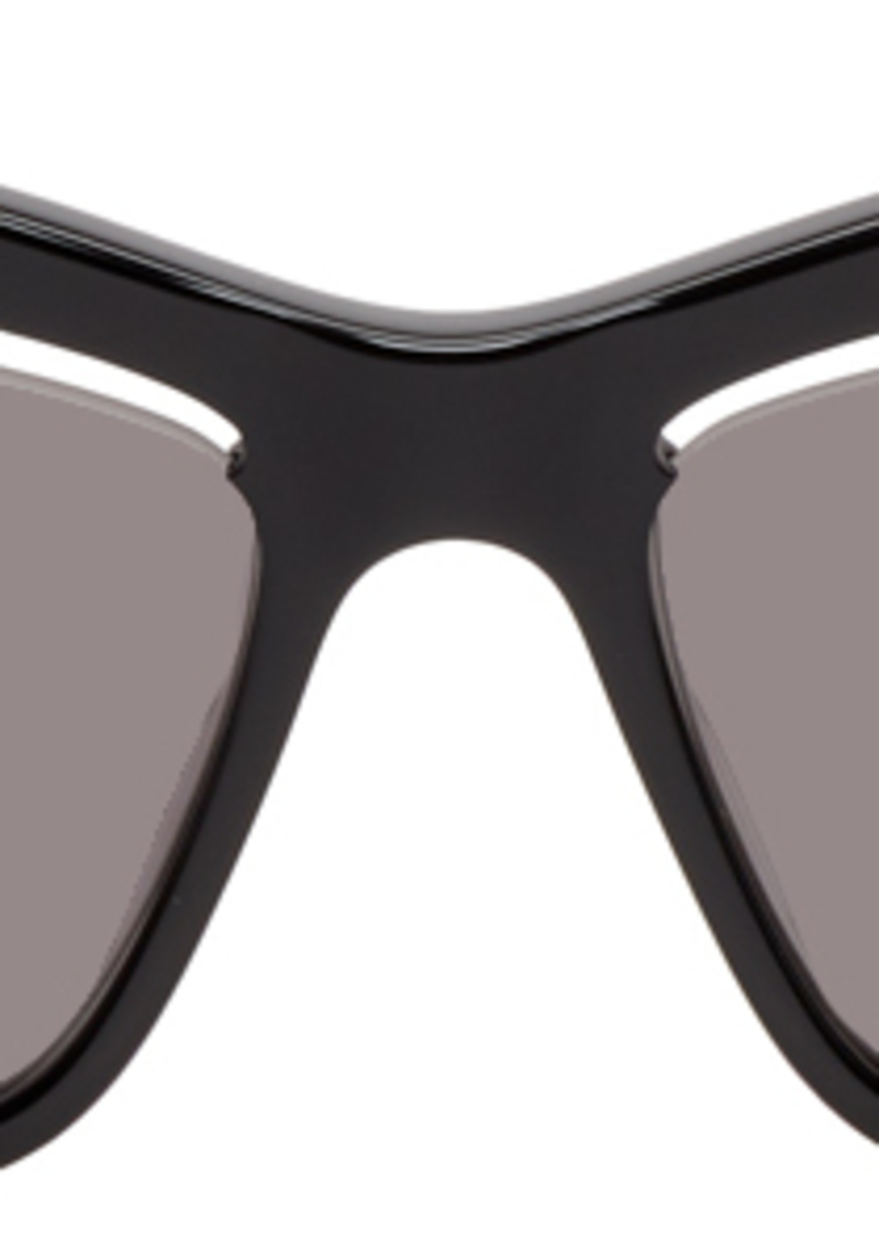 McQ Alexander McQueen Black Iconic Cut-Out Lens Sunglasses