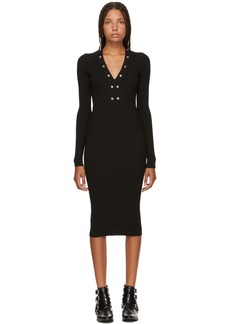 McQ Alexander McQueen Black Lace-Up Bodycon Dress