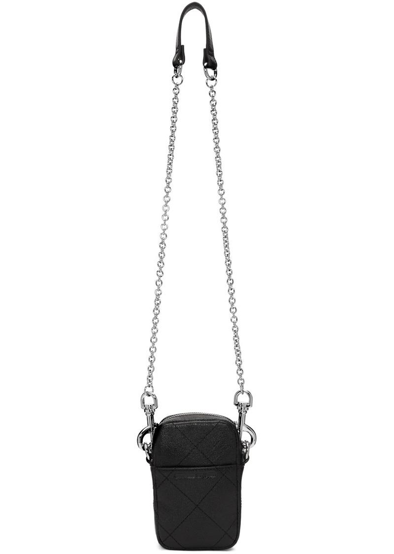 McQ Alexander McQueen Black Leather Crossbody Bag