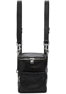 McQ Alexander McQueen Black Leather Mini Convertible Backpack