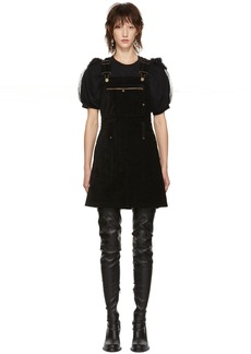 McQ Alexander McQueen Black Major Dungaree Dress