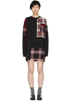 McQ Alexander McQueen Black Patched Tunic Dress