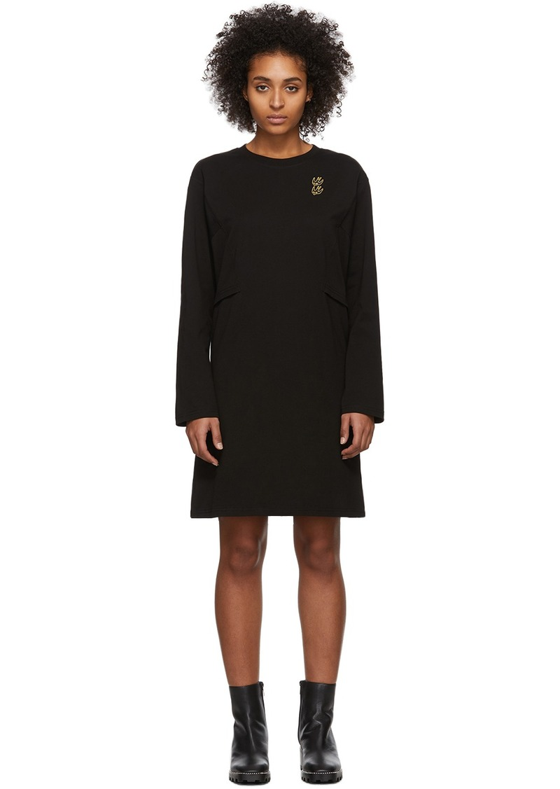 McQ Alexander McQueen Black Shizoku Sweat Dress