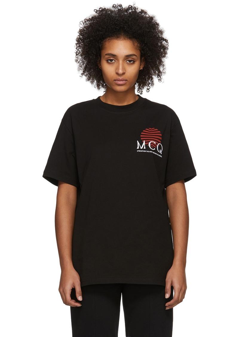 McQ Alexander McQueen Black Sun T-Shirt