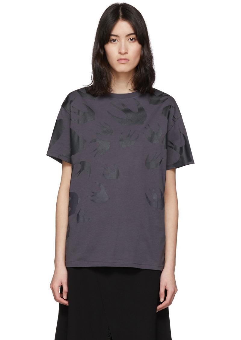 McQ Alexander McQueen Black Swallow Boyfriend T-Shirt