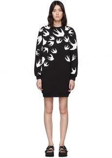 McQ Alexander McQueen Black Swallow Sweatshirt Dress