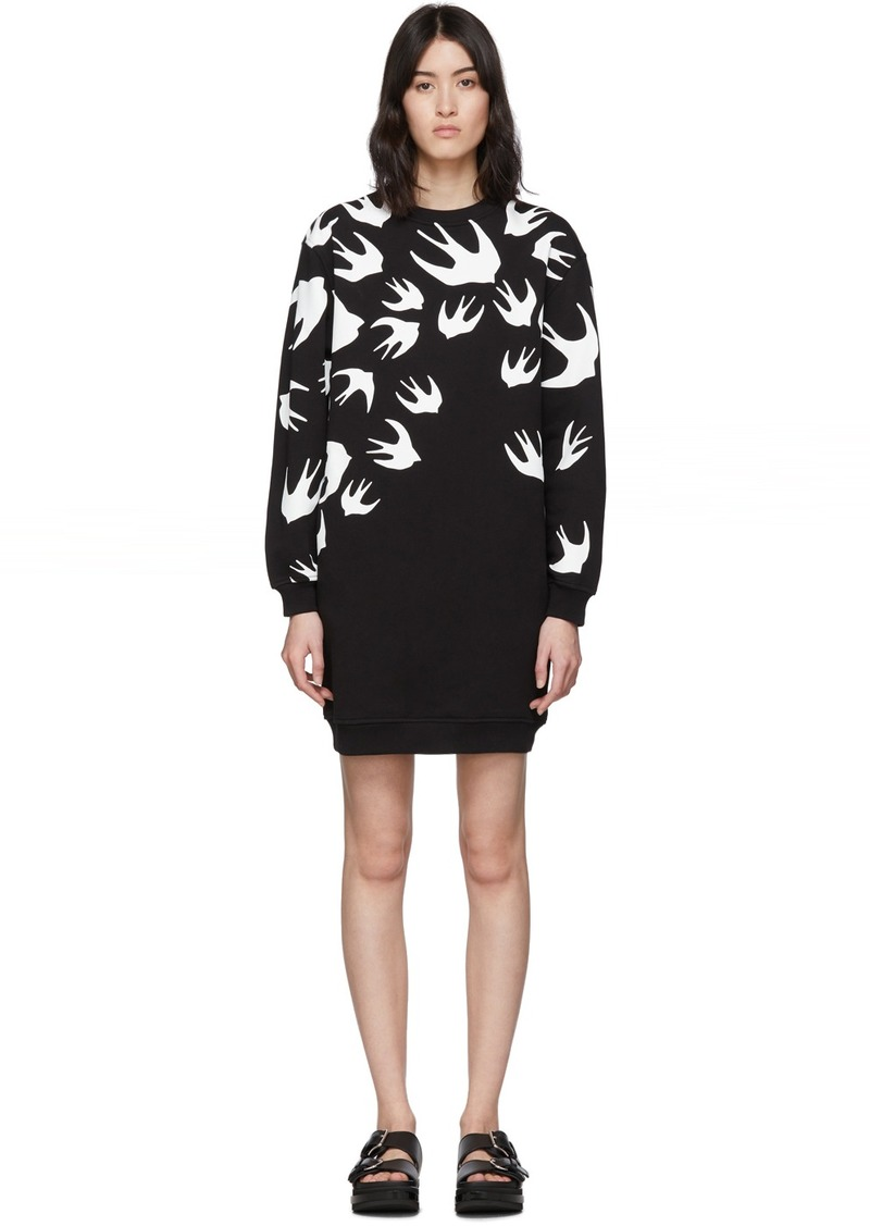 McQ Alexander McQueen Black Swallow Sweatshirt Dress