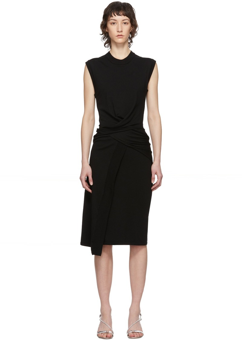 McQ Alexander McQueen Black Tomiko Knit Twist Dress
