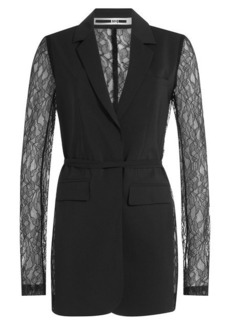 McQ Alexander McQueen Blazer with Lace Sleeves